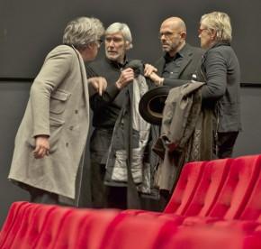 Bart De Baere, Flor Bex, Harold Berg, Lieve De Deyne at Cinema Zuid M HKA première Gordon Matta-Clark